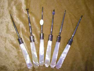 Antique dental mop scalers