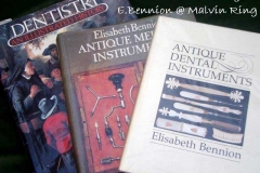 Antique dental instrument books