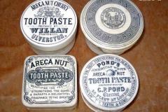 Areca nut toothpaste potlids