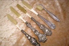French sterling and ivory toothbrushes