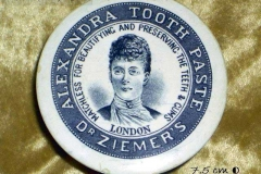 Alexandra 1863 toothpaste pot lid