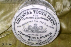 Oriental toothpaste pot