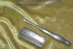 Sterling travelling toothbrush and holder