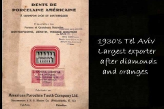 Porcelain teeth export from Tel Aviv 1930s