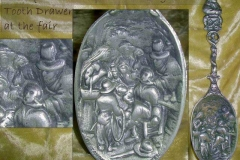 Antique pewter spoon- extraction scene