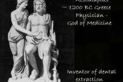 God of medicine & inventor of extraction