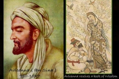 Avicenna-educated by muse of medicine