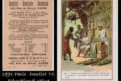 Dentist trade card 19th C